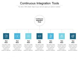 Continuous Integration Tools Ppt Powerpoint Presentation Summary Graphics Pictures Cpb