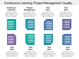Continuous Learning Project Management Quality Mindset Launching Competencies