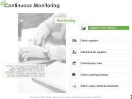 Continuous Monitoring Developments Ppt Powerpoint Presentation Topics