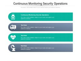 Continuous Monitoring Security Operations Ppt Powerpoint Presentation Model Cpb