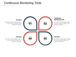 Continuous Monitoring Tools Ppt Powerpoint Presentation Infographics Tips Cpb