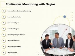 Continuous Monitoring With Nagios Features Ppt Powerpoint Presentation Inspiration Background Image