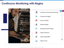 Continuous Monitoring With Nagios Use Case Powerpoint Presentation Skills