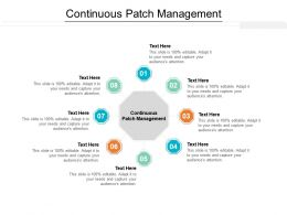 Continuous Patch Management Ppt Powerpoint Presentation Inspiration Objects Cpb