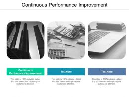 Continuous Performance Improvement Ppt Powerpoint Presentation Icon Objects Cpb