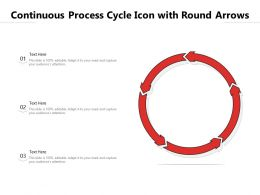 Continuous Process Cycle Icon With Round Arrows