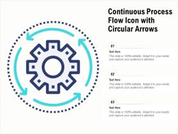 Continuous Process Flow Icon With Circular Arrows