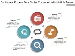 Continuous Process Four Circles Connected With Multiple Arrows