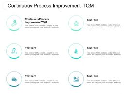 Continuous Process Improvement TQM Ppt Powerpoint Presentation Show Vector Cpb