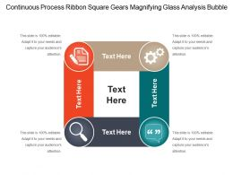 Continuous Process Ribbon Square Gears Magnifying Glass Analysis Bubble