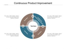 Continuous Product Improvement Ppt Powerpoint Presentation Professional Maker Cpb