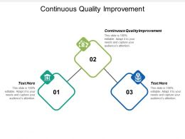 Continuous Quality Improvement Ppt Powerpoint Presentation Gallery Graphics Tutorials Cpb