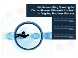Continuous Ring Showing The District Human Silhouette Involved In Ongoing Business Process