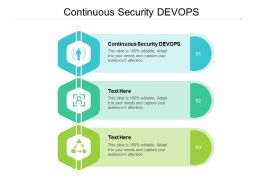 Continuous Security DEVOPS Ppt Powerpoint Presentation File Example Cpb