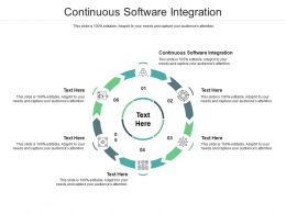 Continuous Software Integration Ppt Powerpoint Presentation Pictures Themes Cpb