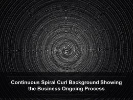 Continuous Spiral Curl Background Showing The Business Ongoing Process