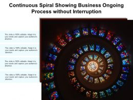 Continuous Spiral Showing Business Ongoing Process Without Interruption