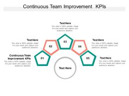 Continuous Team Improvement KPIs Ppt Powerpoint Presentation Summary Infographic Template Cpb