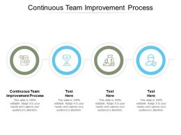 Continuous Team Improvement Process Ppt Powerpoint Presentation Infographic Cpb
