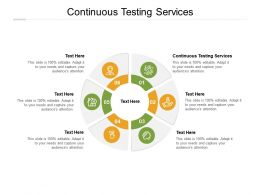 Continuous Testing Services Ppt Powerpoint Presentation Outline Slides Cpb