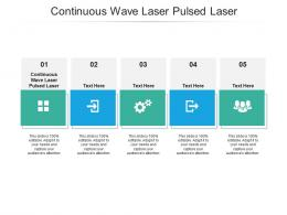 Continuous Wave Laser Pulsed Laser Ppt Powerpoint Presentation File Example Introduction Cpb
