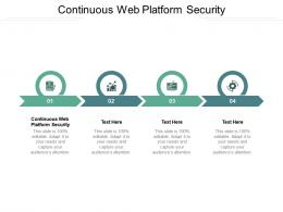 Continuous Web Platform Security Ppt Powerpoint Presentation Styles Maker Cpb