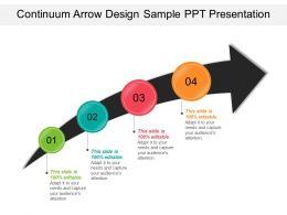 Continuum Arrow Design Sample Ppt Presentation