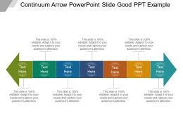 Continuum Arrow Powerpoint Slide Good Ppt Example