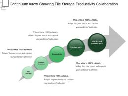 Continuum Arrow Showing File Storage Productivity Collaboration