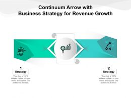 Continuum Arrow With Business Strategy For Revenue Growth