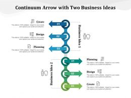 Continuum Arrow With Two Business Ideas