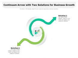 Continuum Arrow With Two Solutions For Business Growth