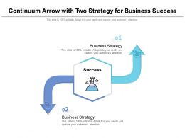 Continuum Arrow With Two Strategy For Business Success