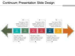 Continuum Presentation Slide Design Powerpoint Ideas