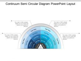 Continuum Semi Circular Diagram Powerpoint Layout