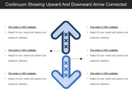 Continuum Showing Upward And Downward Arrow Connected