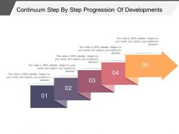 Continuum Step By Step Progression Of Developments Powerpoint Shapes