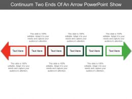 Continuum Two Ends Of An Arrow Powerpoint Show