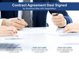 Contract Agreement Deal Signed By Business Man With Negotiation