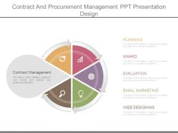 Contract And Procurement Management Ppt Presentation Design