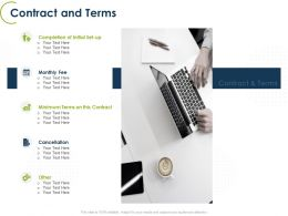 Contract And Terms Ppt Powerpoint Presentation Portfolio Slide Download