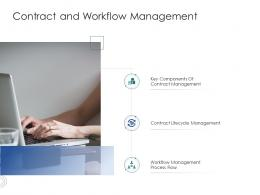 Contract And Workflow Management Infrastructure Engineering Facility Management Ppt Brochure