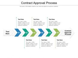 Contract Approval Process Ppt Powerpoint Presentation Outline Background Designs Cpb