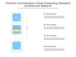 Contract Centralization Cloud Computing Standard Architecture Patterns Ppt Presentation Diagram