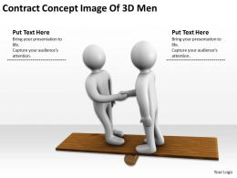 Contract Concept Image Of 3D Men Ppt Graphics Icons Powerpoint