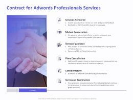 Contract For AdWords Professionals Services Ppt Templates