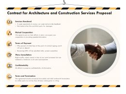 Contract For Architecture And Construction Services Proposal Ppt Powerpoint Graphics File