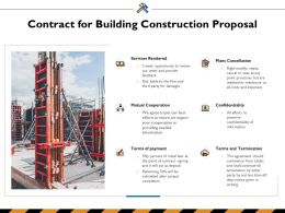 Contract For Building Construction Proposal Ppt Powerpoint Presentation Inspiration Mockup