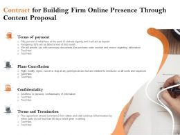 Contract For Building Firm Online Presence Through Content Proposal Ppt Outline