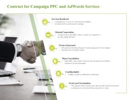 Contract For Campaign PPC And Adwords Services Mutual Cooperation Ppt Elements